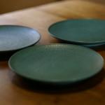 中丸皿(水色)